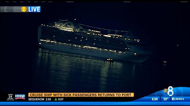 Cruise Ship With Sick Passengers Docks In San Diego Cbs News 8 San Diego Ca News Station