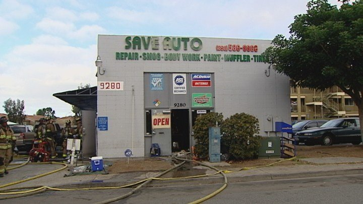 Crews Knock Out Fire At Auto Repair Shop Cbs News 8 San Diego Ca News Station Kfmb Channel 8