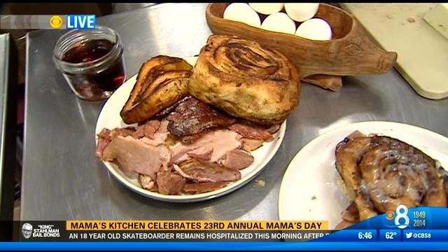 Mama 39 s kitchen celebrates 23rd annual mama 39 s day cbs for Mama s kitchen san diego