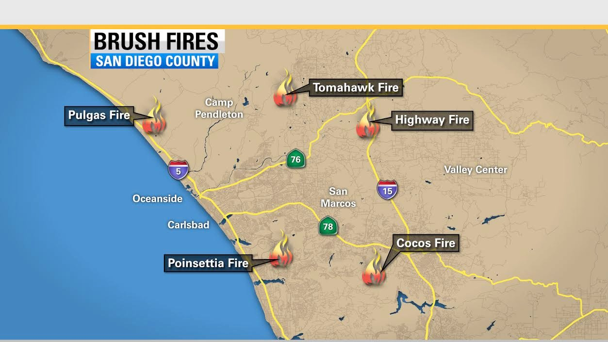 Local fires today san diego county