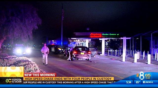 High speed pursuit leads police from downtown to carlsbad for Worldwide motors san diego ca