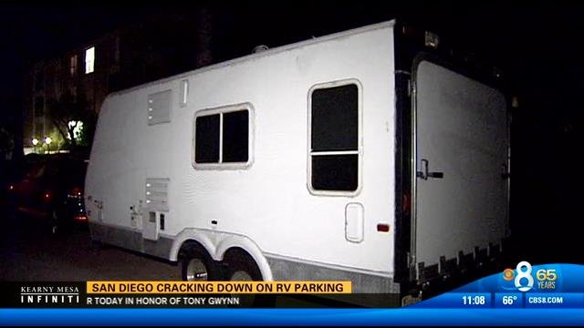 san diego cracking down on rv parking - cbs news 8 - san diego  ca news station