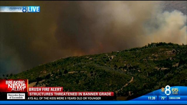 Banner fire firefighters make progress evacuations for Worldwide motors san diego ca