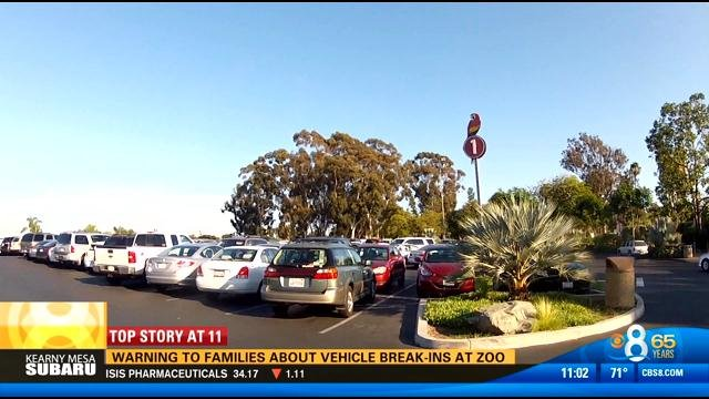 Warning to families about vehicle break ins at san diego for Worldwide motors san diego ca