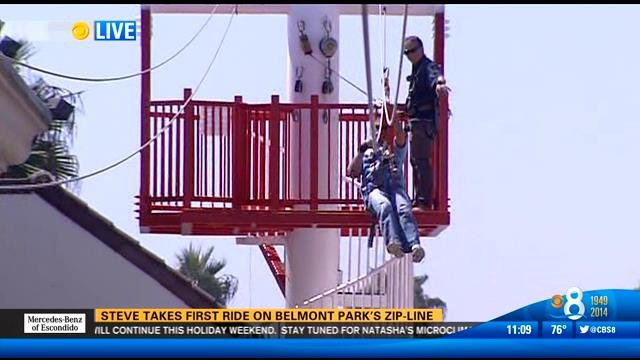 Taking The First Ride On Belmont Park S Zip Line Cbs