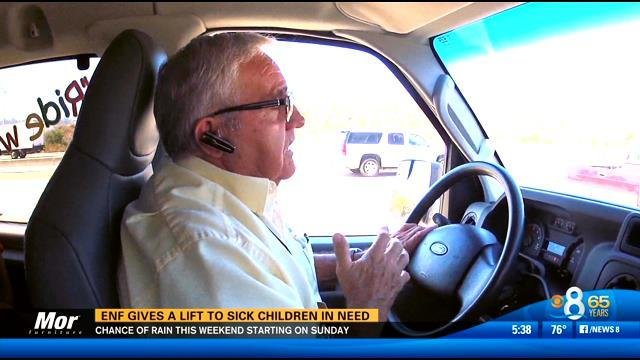 Enf Gives A Lift To Sick Children In Need Cbs News 8