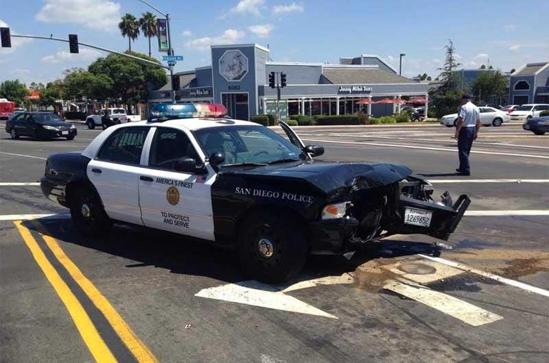 Police cruiser hits motorist in college area cbs news 8 for Worldwide motors san diego ca