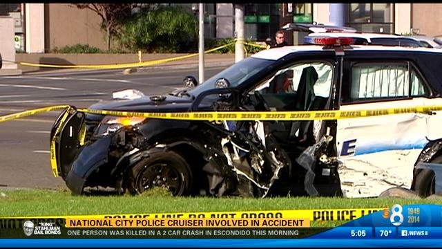 National city police investigating accident involving for National motors san diego