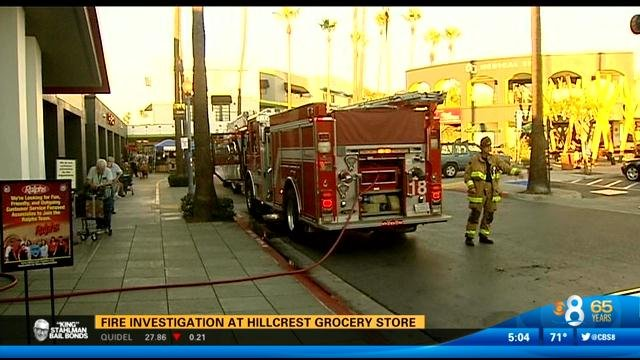 Hillcrest Grocery Store Fire Under Investigation CBS News 8 San Diego CA