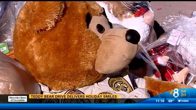 story police escort teddy bears rady childrens hopistal
