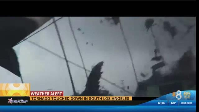 tornado touches down in south los angeles