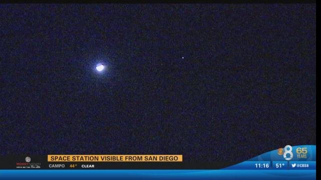 space station visible from san diego - cbs news 8