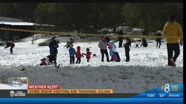 Honda San Diego >> Julian residents, businesses concerned about snow visitors ...