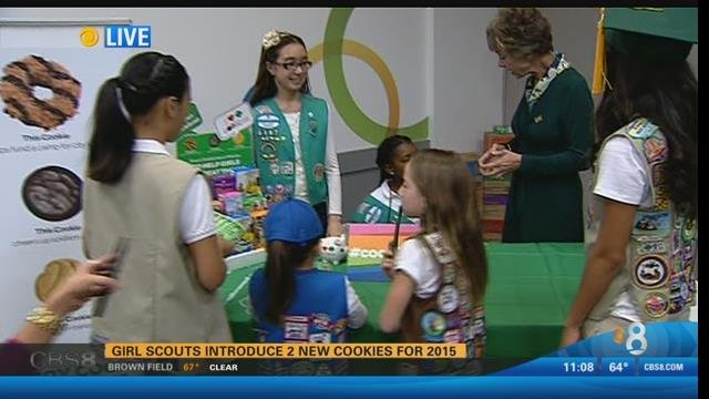 girl scouts introduce two new cookies for 2015   cbs news