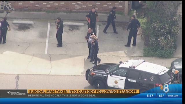 Suicidal Man Taken Into Custody Following Standoff Cbs