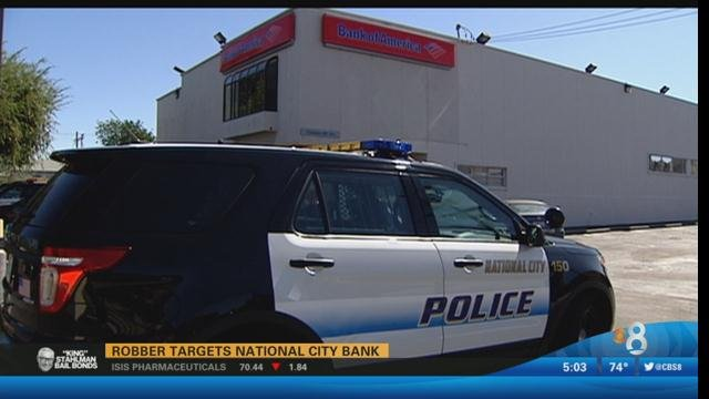 Robber targets national city bank cbs news 8 san diego for National motors san diego