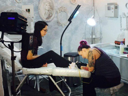 Rape victim gets support from local tattoo shop cbs news for Tattoo shops in san marcos tx