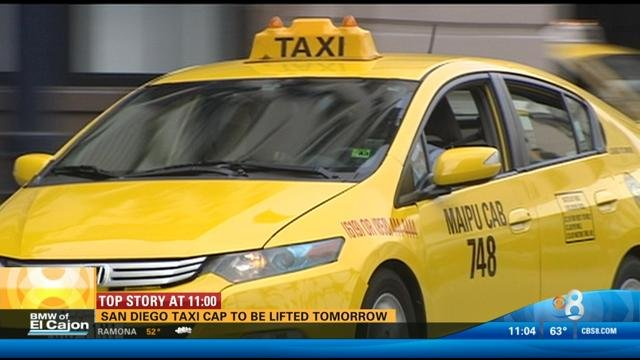 Cab San Diego >> Cap Lifted On Number Of Taxi Cab Permits Issued In San Diego