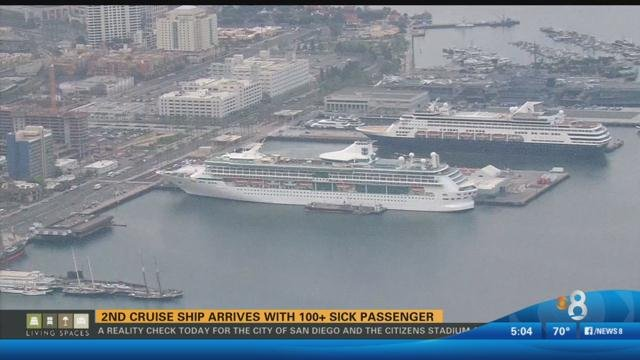 Second Cruise Ship Docks In San Diego With Sick Passengers CBS - Where do cruise ships dock in san diego
