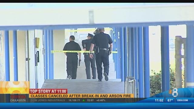 Classes canceled at Clairemont High School after suspected arson - CBS ...