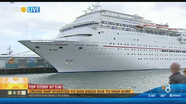 Cruise Ship Diverted To San Diego Due To High Surf CBS News - Cruise ships in san diego