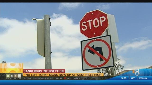 New traffic signs go up at west hills high cbs news