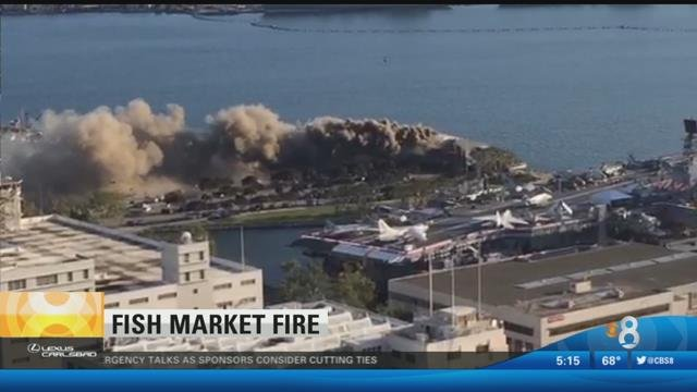 Clean up begins after fire rips through fish market for Fish market restaurant san diego