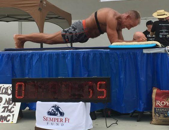 local man sets new record for longest held plank