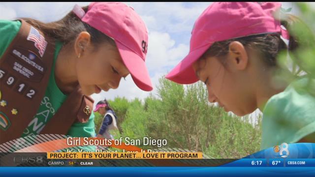 earth 8 eco ambassador award girl scouts san diego   cbs