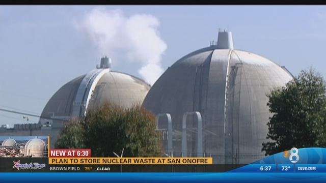 the plan to store nuclear waste at san onofre