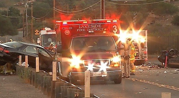two dead in wrong-way crash in lakeside - cbs news 8