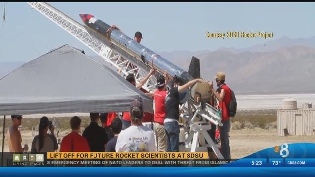 Lift off for future rocket scientists at SDSU - CBS News 8 ...