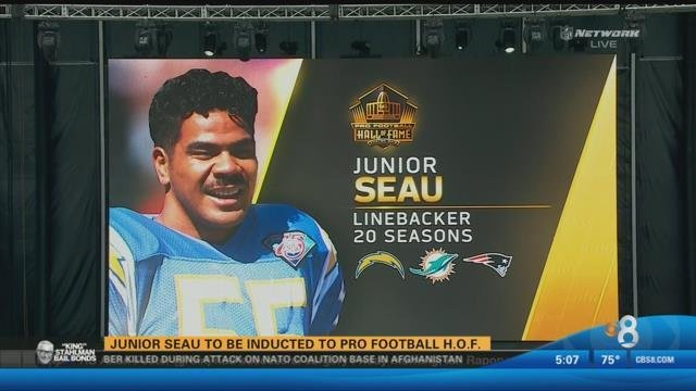 2838d6e1f Junior Seau to be inducted to Pro Football Hall of Fame - CBS News 8 - San  Diego