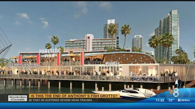 Port to vote tuesday on replacing anthony 39 s cbs news 8 for Anthony s fish grotto san diego