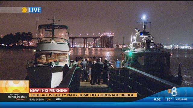 Honda San Diego >> Four men jump off Coronado Bridge in a stunt - CBS News 8 ...