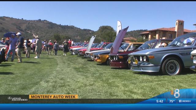 Shawn styles at monterey auto week cbs news 8 san for Worldwide motors san diego ca