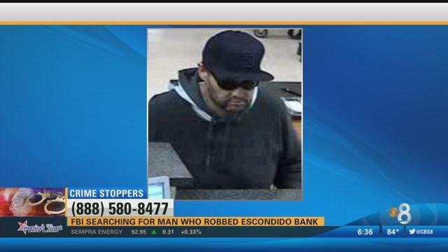 Fbi searching for man who robbed escondido bank 100 7 for 100 beauty salon escondido