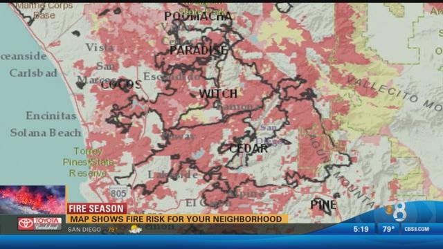 Interactive Map Shows Fire Risk For San Diego Neighborhoods Cbs