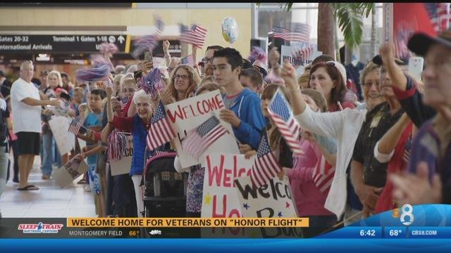 welcome home for veterans on honor flight