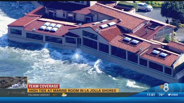 High Tide At Marine Room In La Jolla Shores Cbs News 8 San Diego