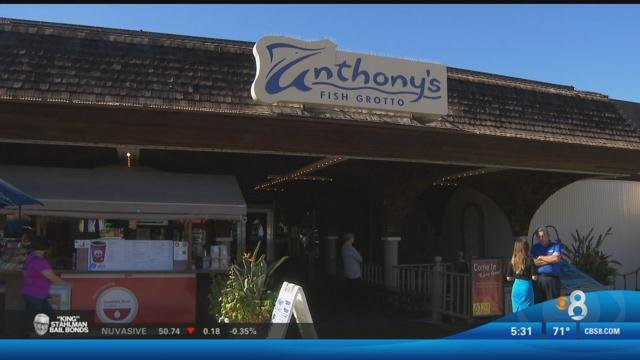 Anthony 39 s fish grotto set to close for good tuesday cbs for Anthony s fish grotto san diego
