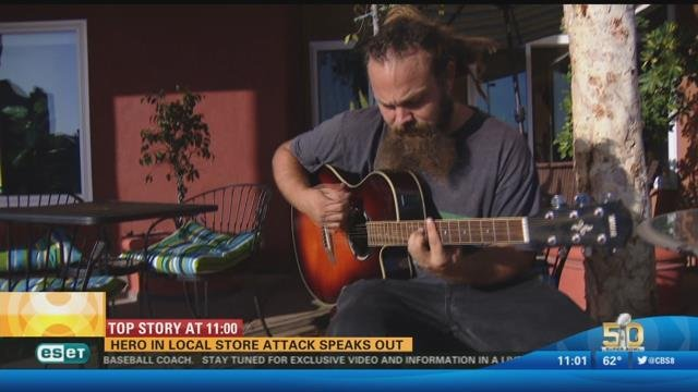 hero in local store attack speaks out cbs news 8 san diego ca news station kfmb channel 8. Black Bedroom Furniture Sets. Home Design Ideas