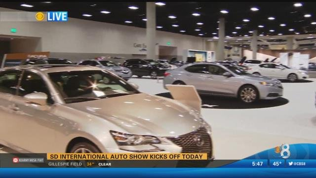 San Diego International Auto Show Runs Through Sunday CBS News - San diego convention center car show