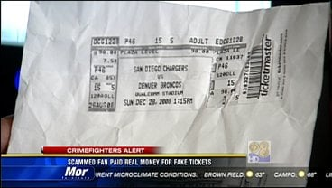 Scammed Fan Paid Real Money For Fake Tickets Cbs News 8