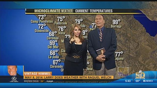 Vintage Himmel Larry Does Weather With Raquel Welch