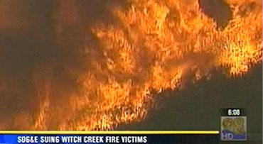 Sdg Amp E Suing Witch Creek Fire Victims Cbs News 8 San