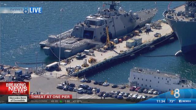 Bomb Threat Prompts Pier Evacuation At Naval Base San