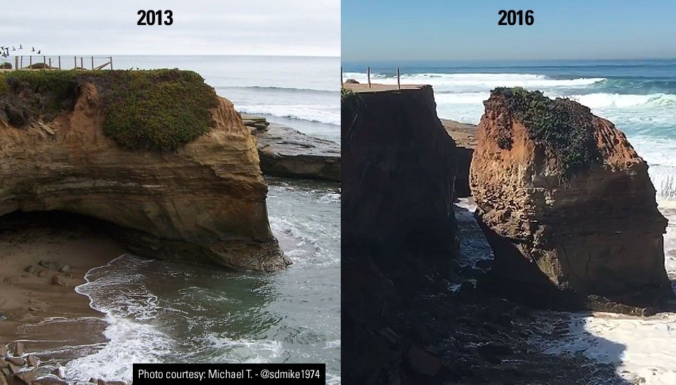 Honda San Diego >> Huge bluff collapse poses danger in Sunset Cliffs - CBS ...