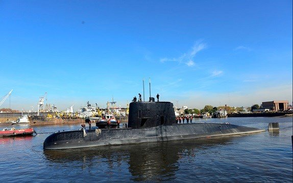 Argentina Navy shows the ARA San Juan, a German-built diesel-electric vessel, docked in Buenos Aires, Argentina.