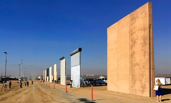 This Oct. 26, 2017 file photo shows prototypes of border walls in San Diego.
